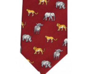 Big 5 Animal Printed Tie