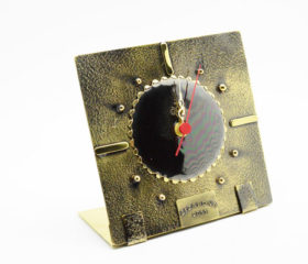 Square Copper Clock