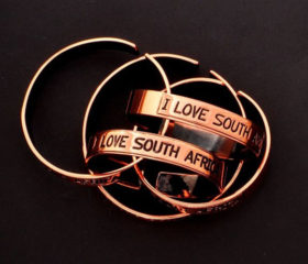 Copper Bangle I Love South Africa