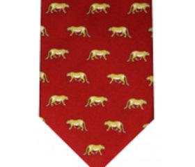 Leopard Silk Tie