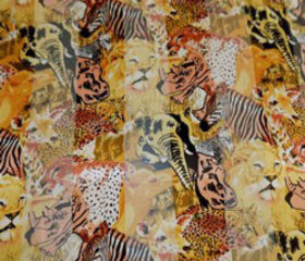 Multi Animal Satin Scarf