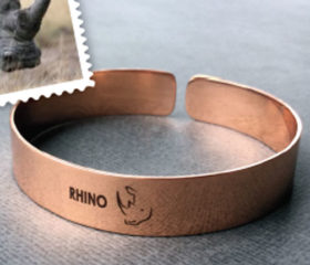 Copper Bangle with Rhino