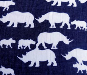 Rhino Scarf Blue and White