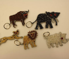 Beaded Animal Keyring