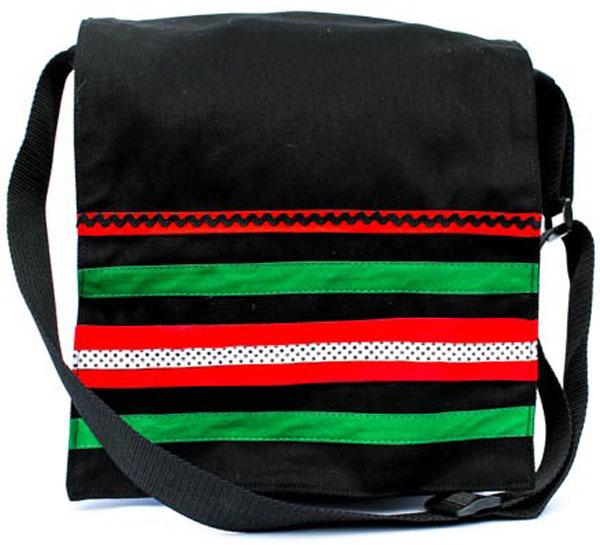 Bull Denim Sling Bag with braid