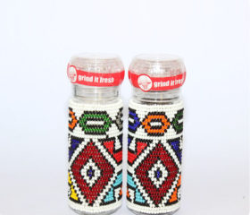 Beaded Salt and Pepper Grinder Set