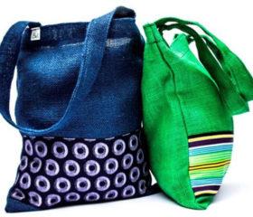 Hessian Conferece Bag with Shweshwe