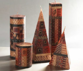 Handprinted African Candles