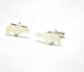 Silver Rhino Cufflinks