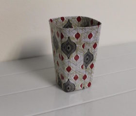 African Paper Mache Pen Holder