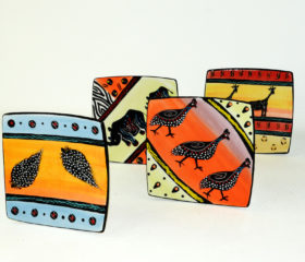 african beat hand-painted ceramics