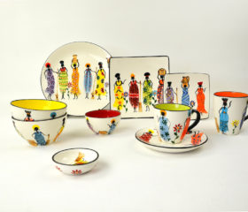 african ladies ceramics