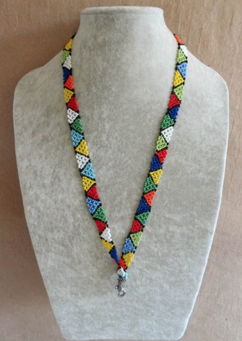 Zig Zag Beaded Lanyards