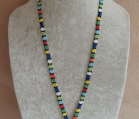 Daisy beaded lanyard
