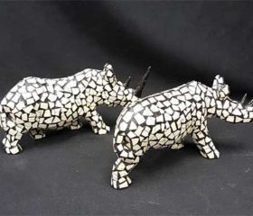 ostrich mosaic rhino
