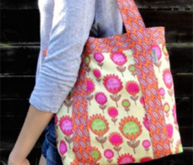 protea flower shopper bag