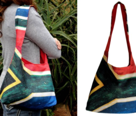 Shoulder Bag with SA Flag