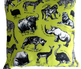 Animal Sketch Cushion cover