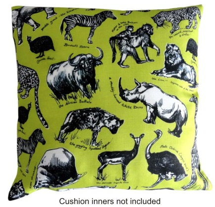 Animal Sketch Cushion Cover