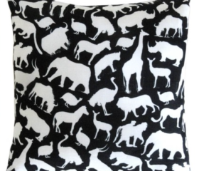 african wildlife cushion cover