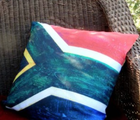 SA Flag Cushion Cover