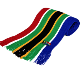 knitted sa flag scarf