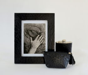 Ostrich leather gifts