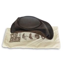 fold away leather bush hat